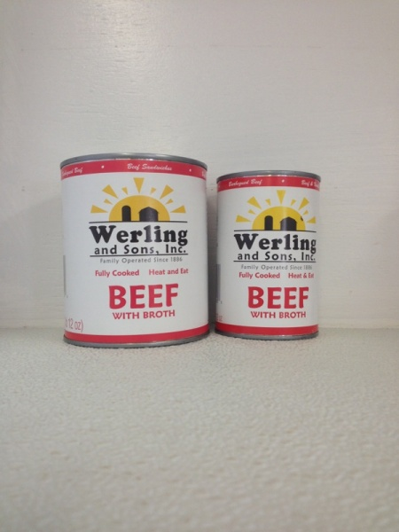 Canned beef