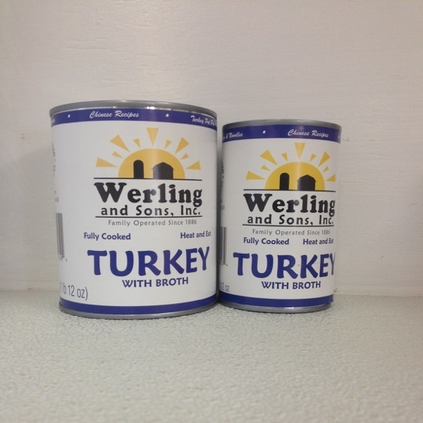 Canned turkey
