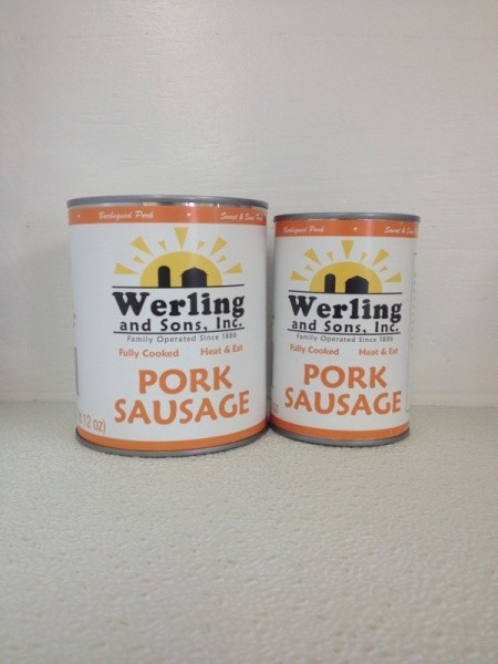 Canned pork sausage filling