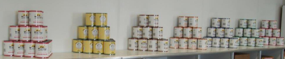 Variety of canned meat